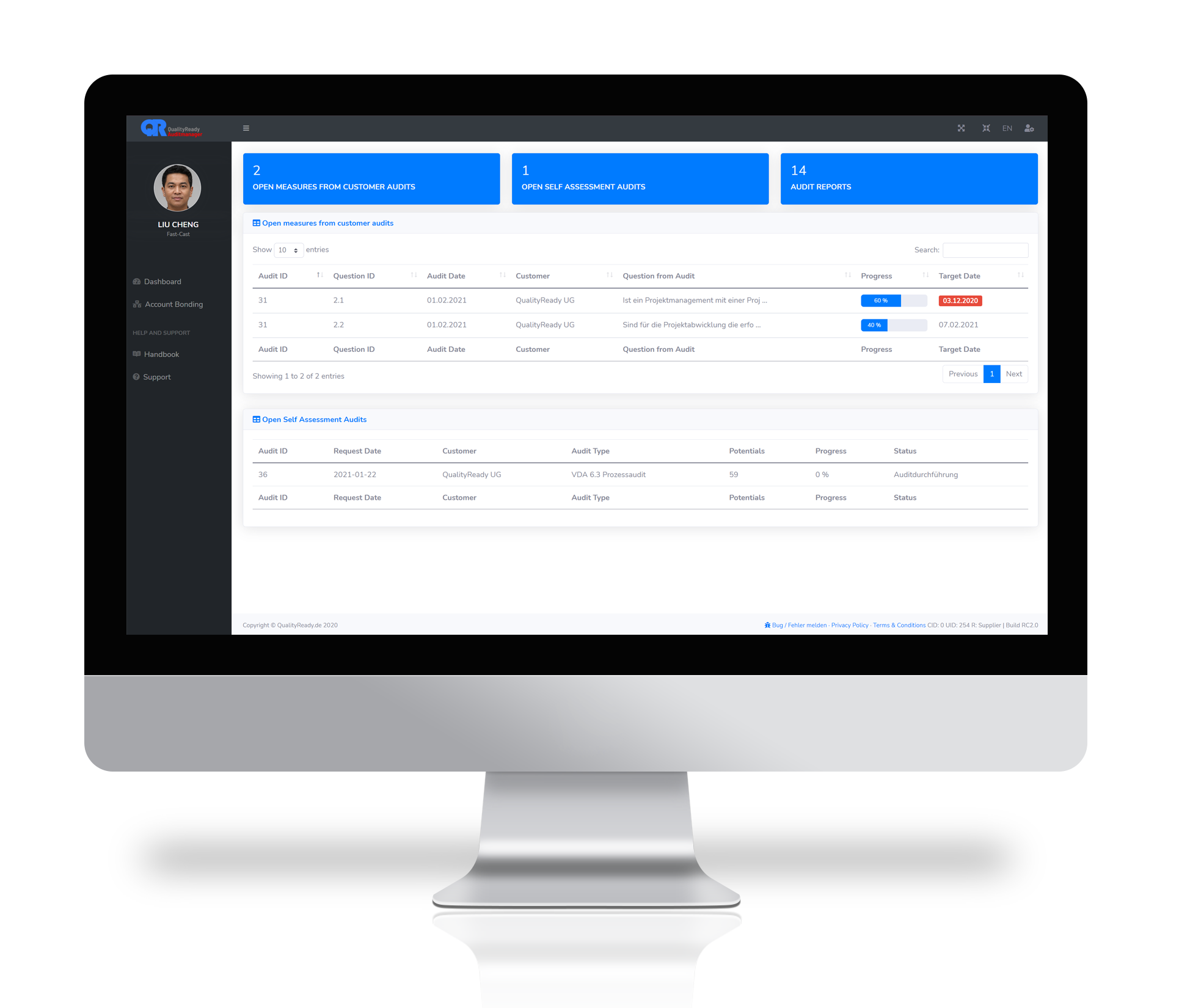 Auditmanagement Dashboard